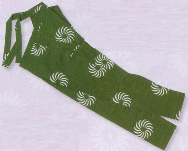 股引 風車 緑 サイズ S~3L