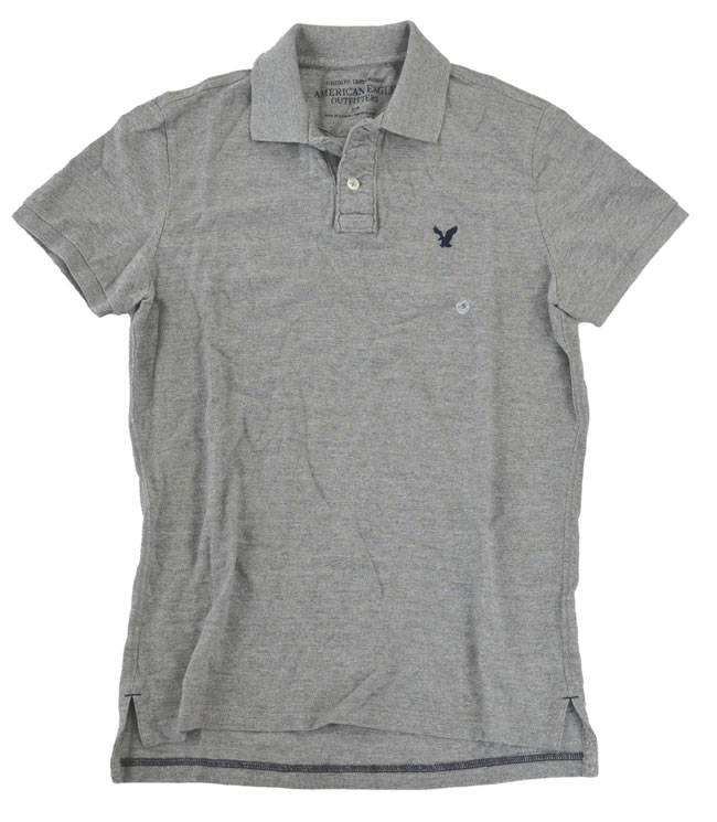 701a549b OOPARTS: American Eagle / American Eagle mens polo shirt grey size S ...