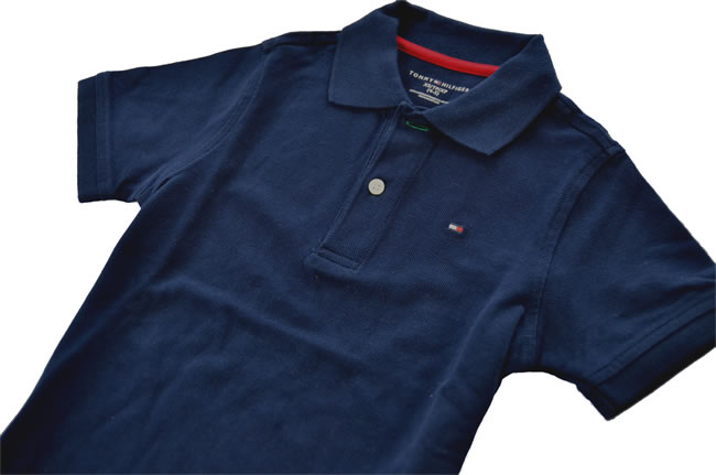 7d403eba [Genuine and authentic] ◇ TOMMY HILFIGER: Tommy Hilfiger ◇ KIDS kids ◇ Polo  Shirt ◇ size: 4-5 ◇ color: Navy [Stock]