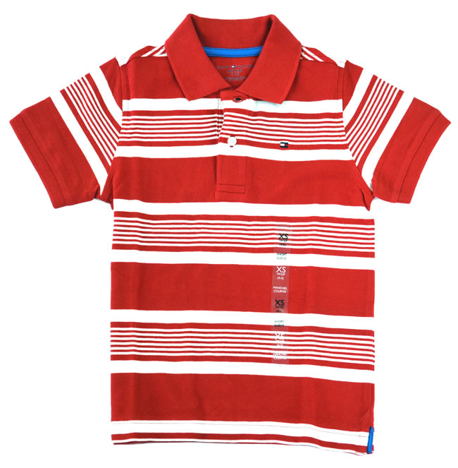 Tommy Hilfiger baby boys' two tone striped polo shirt