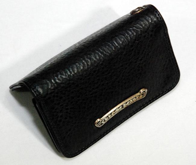 newest 5e59c e8bb3 Chrome CHROME HEARTS wallet - card case, 2 Pocket ( black leather )