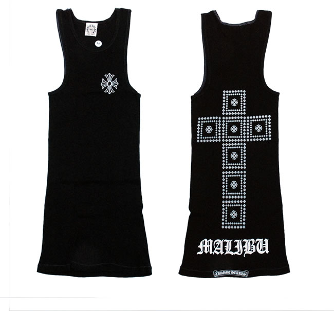d2ac6c6cf9881 OOPARTS  Chrome   CHROME HEARTS ◇ mens tank top ◇ l ◇ Black ...