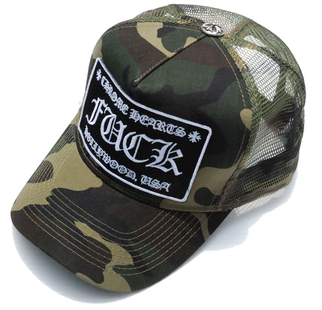 9178f031ee1 OOPARTS  Chrome   CHROME HEARTS patch mesh Hat Cap   Trucker Cap ...