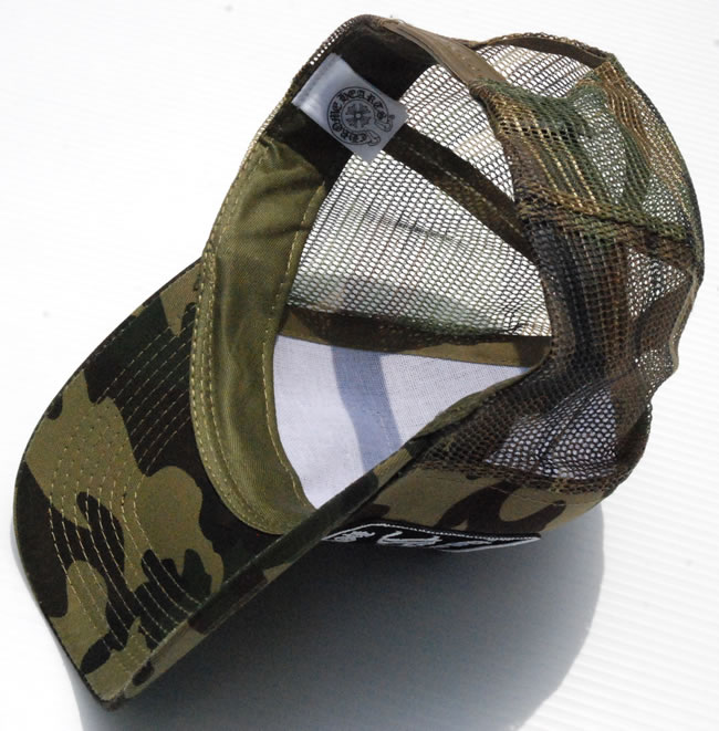 922c4b93c2600 Chrome   CHROME HEARTS patch mesh Hat Cap   Trucker Cap Camo camouflage   FUCK duck