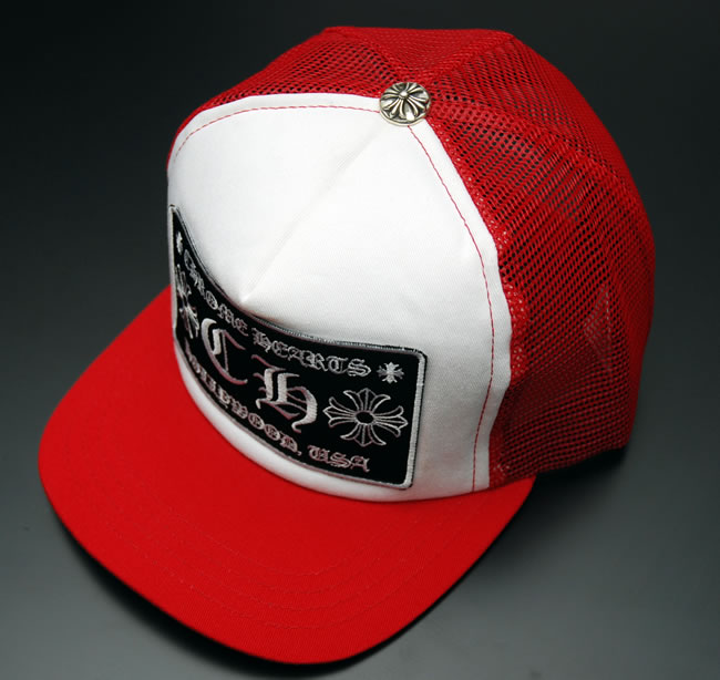 07d414b835ee4 OOPARTS  Chrome CHROME HEARTS Tracker Cap CH ☆ RED BLACK