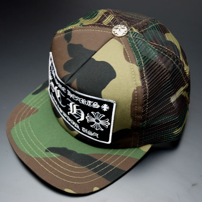 Chrome CHROME HEARTS Tracker Cap CH ★ CAMO/BLACK