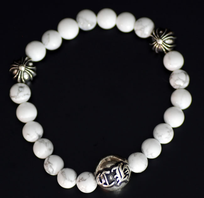 Chrome CHROME HEARTS ◆ bracelet white X silver 8 mm