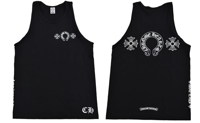 1f9013ffd0186 OOPARTS  Chrome   CHROME HEARTS ◇ mens tank top ◇ S size ◇ black ...