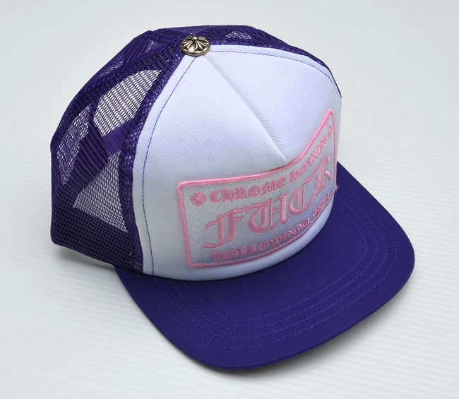 5b85a15d7ff4e OOPARTS  Chrome CHROME HEARTS Tracker Cap FUCK ☆ Purple Pink ...