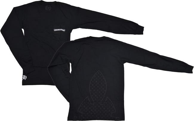 クロムハーツCHROME HEARTS メンズ長袖Tシャツ ロングTシャツ Lサイズ ブラック あす楽対応正規品smtb TDyokohamaYDKG tdJcTKl3F1