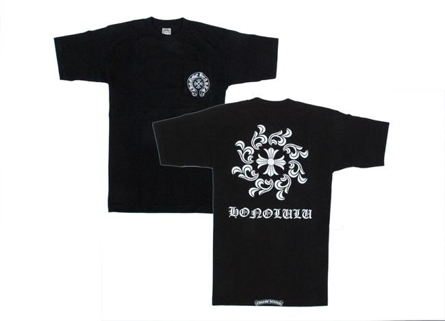 铬/铬心 ◆ 男士短袖 T 衬衫檀香山有限 ◆ ◆ 黑色