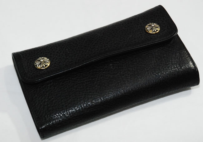 88371ce51d OOPARTS  Chrome CHROME HEARTS wallet wave cross button wallet-black ...