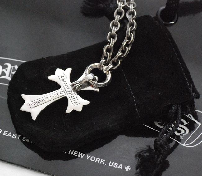 铬铬心 ◆ CH 十字架吊坠小 & ペーパーチェーンネックレス 20 寸