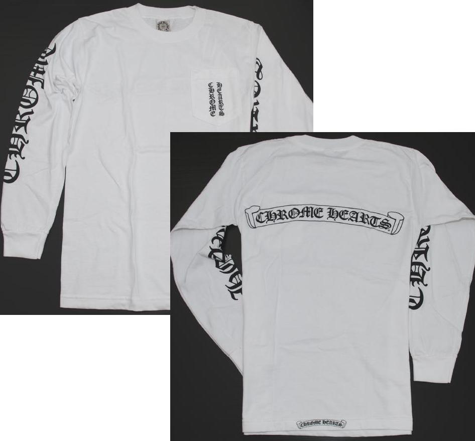 8887611bca9 Chrome   CHROME HEARTS • Mens long sleeve T shirt long T shirts ◇ size M •  White white long T-shirt