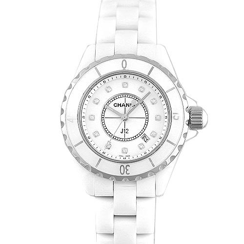 シャネル CHANEL J12 33mmH1628 セラミック12ポイントダイヤ 白 ホワイト【送料無料】【新品】【レディース】【腕時計】【本店_C4757】