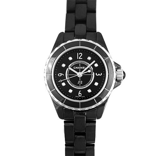 シャネル CHANEL J12 8Pダイヤ 黒 ブラック セラミック 29mm H2569 【送料無料】【新品】【レディース】【腕時計】【本店_C4883】