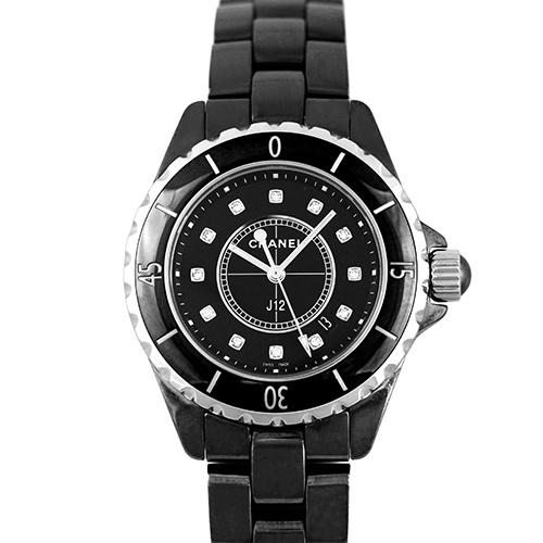 シャネル CHANEL J12 33mm セラミック 12Pダイヤ 黒 ブラック H1625 【送料無料】【新品】【レディース】【腕時計】 【本店_C4755】