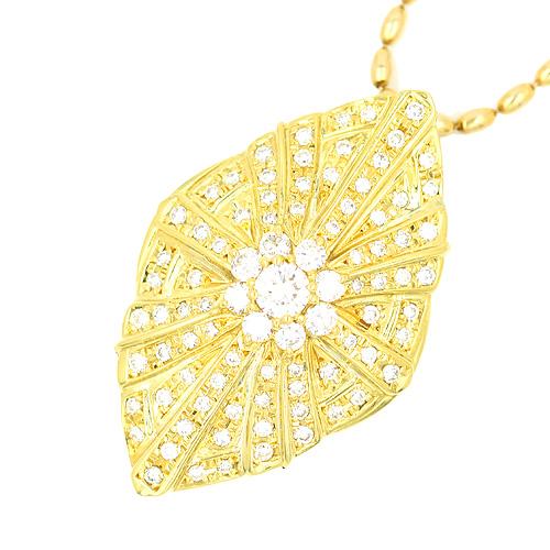 ノンブランド NONBRAND ダイヤモンドペンダントK18 42cm【送料無料】【中古】【ネックレス】【本店_57273】