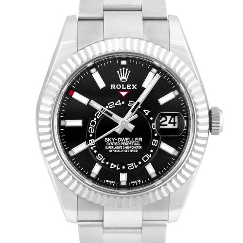 ロレックス ROLEX スカイドゥエラー326934 WG×SS42mm ブラック文字盤 アニュアルカレンダー【送料無料】【新品】【メンズ】【腕時計】【本店_C4918】