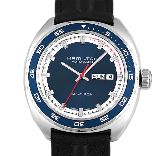 HAMILTON【ハミルトン】 H35405741 腕時計 SS/SS×革 メンズ