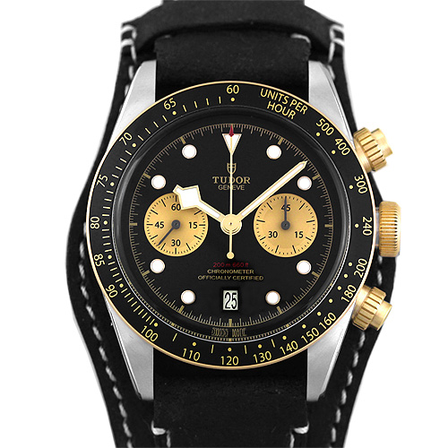 チューダー TUDOR ブラックベイクロノ S&G 79363N SS×革 ブラック×シャンパン 41mm【送料無料】【新品】【メンズ】【腕時計】【チュードル】【本店_E0652】