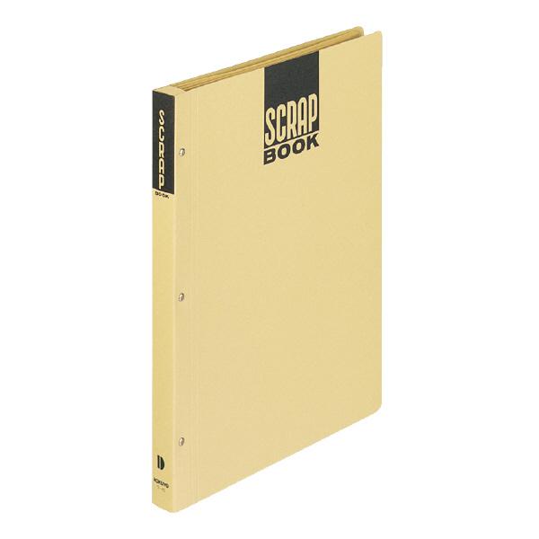 上質のクラフト紙を使用したスタンダードタイプのスクラップブック コクヨ スクラップブックDとじ込み式A4 中紙28枚 茶 ラ-40N
