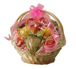 籠盛り果物(かご盛り 果物 フルーツセット 果物セット)1盛 ≪特選≫ 旬の果物(フルーツ) 詰め合わせ