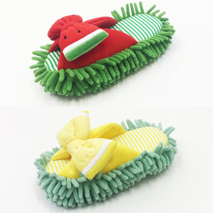 内履き おしゃれ ISE-0421 マイクロファイバー 床拭き かわいい お掃除スリッパ モップスリッパ ルームシューズ 洗える 室内用