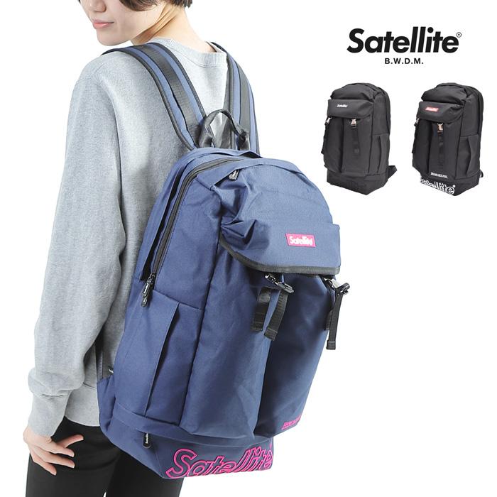 【送料無料】Satellite RHYME メンズ 鞄 バックパック BELLWOODMADE レディース メンズ 大容量 32L ブランド リュック a4 B4 A4 収納 ノートパソコン タブレット 無地 ストリートライン ポケット アウトドア 通気性 仕事用 ロゴ 旅行 ブラック