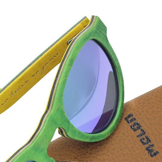 Woodys Sunshade Skatewood Jake2 green木製サングラス/ウッドサングラス