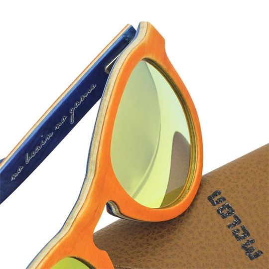 Woodys Sunshade Skatewood Jake2 orange木製サングラス/ウッドサングラス