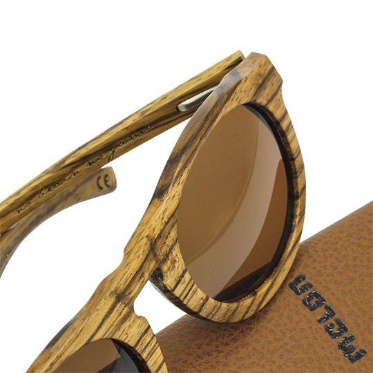 Woodys Sunshade Zebrano Look木製サングラス/ウッドサングラス