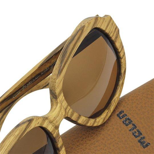 Woodys Sunshade Zebrano Stella木製サングラス/ウッドサングラス