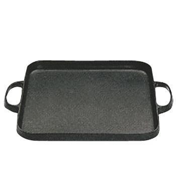 盛栄堂 焼肉鍋 角 CA-31【グリルパン】【鉄製】【電磁調理器対応】【IH対応】【両手パン】【業務用】