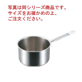 パデルノ 深型片手鍋(蓋無)1006-36cm 電磁【片手鍋】【業務用鍋】【PADERNO】【ステンレス】【電磁調理器対応】【IH対応】【ステンレス製】