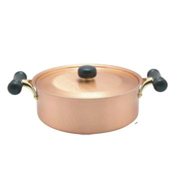 銅IHアンティック 浅型鍋 IH-104 24cm【両手鍋】【銅鍋】【電磁調理器対応】【IH対応】【業務用鍋】【業務用】