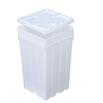 サンペール K#18(蓋付)PP製【バケツ】【角型容器】【ペール缶】【密閉容器】【ポリエチレン容器】【業務用】