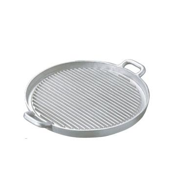 アルミイモノ 丸型 ステーキパン 大 570×460【代引き不可】【ステーキパン】【アルミ鋳物】【丸型】【業務用】