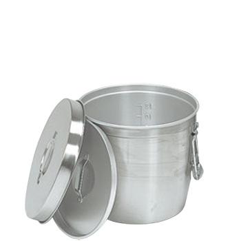 中蓋式 二重食缶 237A 15L φ320 アルマイト【キッチンポット】【給食缶】【業務用】