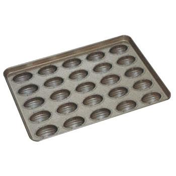 シリコン加工 アーモンドショコラ型 天板(25ヶ取)【業務用】【オーブン天板】