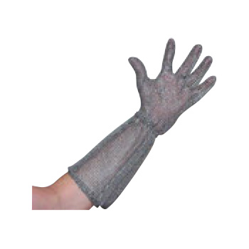 ニロフレックス メッシュ手袋ロングカフ付(1枚)L オールステンレス【代引き不可】【手袋】【軍手】【保護手袋】