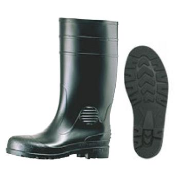 安全長靴 ワークエース W1000 黒 24cm【厨房長靴】【業務用長靴】【安全長靴】