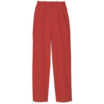 パンツ(女性用)KP002L-3 朱色 9号【スラックス】【ズボン】【パンツ】