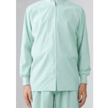 男女兼用ブルゾン(長袖)8-425 グリーン 3L【作業衣】【衛生服】【異物混入防止】