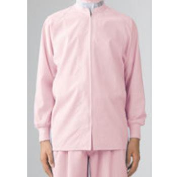 男女兼用ブルゾン(長袖)8-427 ピンク LL【作業衣】【衛生服】【異物混入防止】