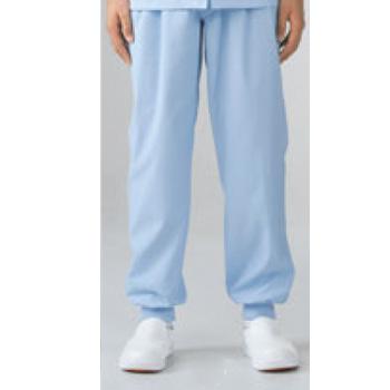 男女兼用パンツ 7-522 ブルー S【作業衣】【衛生服】【異物混入防止】