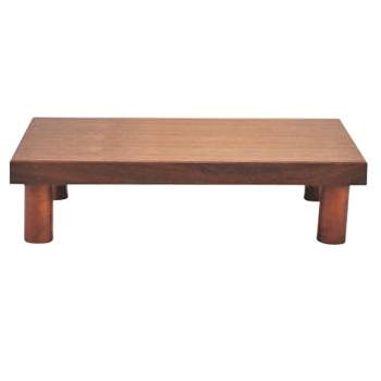 木製 システム ディスプレイスタンド ロータイプ ブラウン【代引き不可】【バンケットウォーマー】【ビッフェ用スタンド】