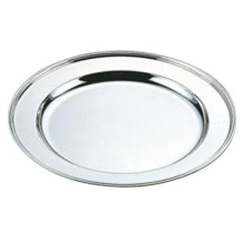 H 洋白 丸肉皿 16インチ 三種メッキ【シルバートレー】【お盆】【トレイ】