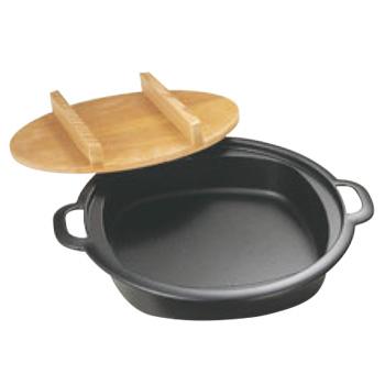 南部 鉄 すきやき兼餃子鍋(木蓋付)24cm【南部鉄器】【鉄鍋】