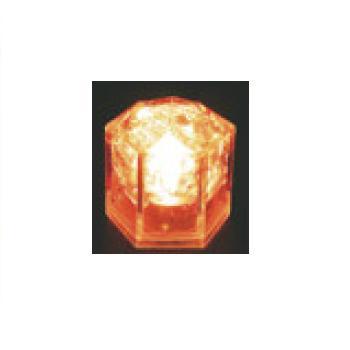 光る氷 ライトキューブ・クリスタル(24入)オレンジ【保冷材】